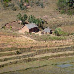 Kleiner Bauernhof im Hochland